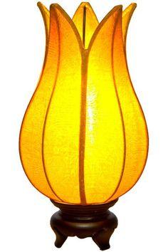 Baby Flowering Lotus Lamp Gold