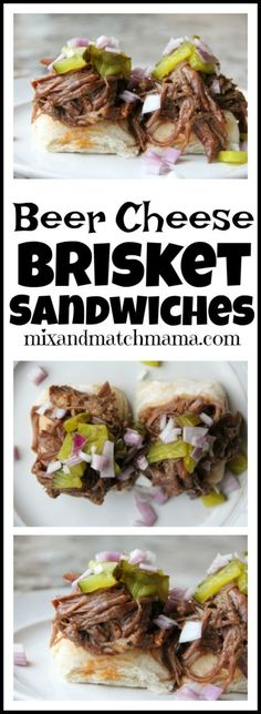 best interior decor in town. Beer Recipes, Slow Cooker Recipes, Crockpot Recipes, Dinner Recipes, Party Recipes, Brisket Sandwich Recipe, Cheese Sandwich Recipes, Beef Dishes, Food Dishes