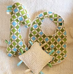 This is a really cute Baby Gift Set that I am going to have to experiment and make, with a twist, for my own boutique.