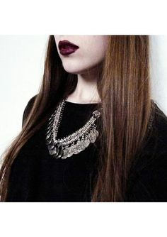 Silver Toned Ancient Coins Statement Necklace #fashion #outfit #style #necklace - 19,90 € @happinessboutique.com