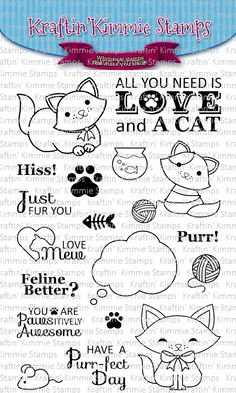 *New Totally Paw-some! Clear Stamps [] - $19.99 : Kraftin Kimmie Stamps