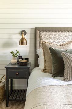 Lodge Bedroom with bespoke headboard design. Lodge Bedroom, Bedroom Decor, Master Bedroom Design, Dream Bedroom, Headboard Designs, Guest Bedrooms, Guest Room, Beautiful Bedrooms, Bed Design