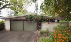 Palo Alto | Eichler Kithchen & Bath Remodel - Midcentury - Exterior - san francisco - by Keycon, Inc -  like the profile and combo with wood and concrete since we might need to do that