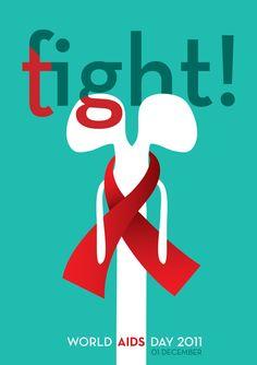 Fight Tight // World AIDS Day Poster by Ivan Durgutovski