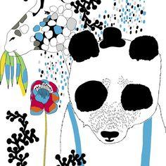 The fabric Unessa by Jenni Tuominen for Marimekko.