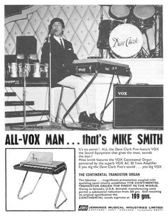 """The VOX Showroom - 1965 JMI Vox Magazine Ad - """"All-Vox Man...that's Mike Smith"""""""