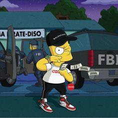 Bart Simpson New Horizons Android The Simpsons, White Wallpaper, Simpson Wallpaper Iphone, Dope Cartoons, Supreme Wallpaper, Hypebeast Wallpaper, Sneaker Art, Fire Art, Urban Sketching