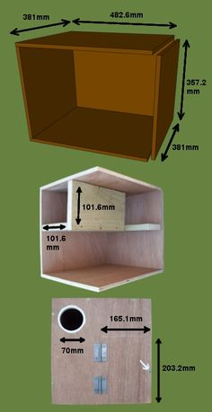 Bob Sheppard's Little Owl nest box design | BTO - British Trust for Ornithology. Ideally made with marine ply.