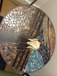"The Scream - Mosaic Table created to look like Edvard Munch's ""The Scream""."