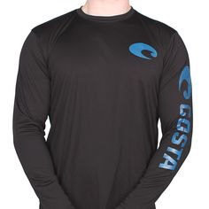 27fa6d4dcf9 Performance Core Long Sleeve T-Shirt in Black by Costa Del Mar
