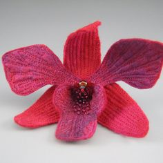 Handmade Felt Orchid  choose brooch or от fiberartandadornment