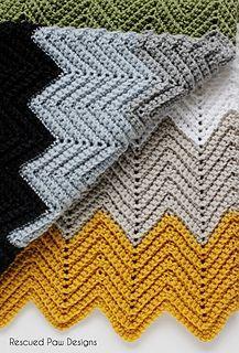 Crochet Chevron Blanket Pattern FREE - Great for Fall & Winter!