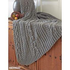 Free Intermediate Blanket Knit Pattern
