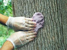 How to make fake tree bark effect.