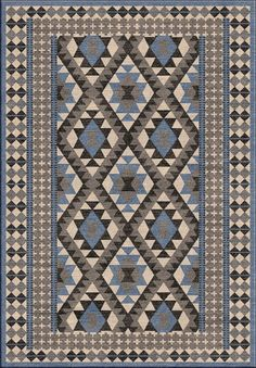 Surya MAV7000 Mavrick Blue Rectangle Area Rug