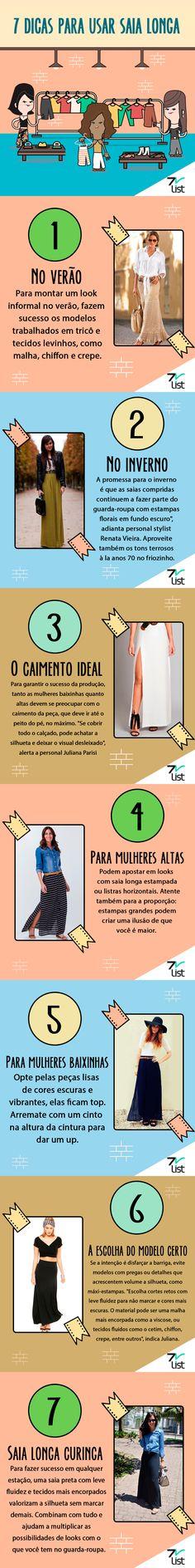 7 Dicas para usar saia longa