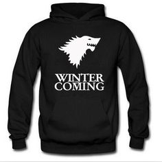 Game of the Throne Winter is Coming Printed Sweatshirt Men Hoodies //Price: $31.23 & FREE Shipping //     #gameofthrones