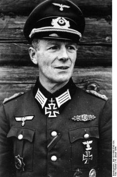 ✠ Major Gen Gerhard Schmidhuber, commander of the 13th Panzer Division and, in 1944, Wehrmacht supreme commander for  German occupied Hungary. He prevented the liquidation of the Budapest Jewish ghetto in the face of the advancing Red Army. Schmidhuber was killed in action in the Battle of Budapest, on Feb 11, 1945. Iron Cross, 2nd Class & 1st Class, Clasp to the Iron Cross, 2nd Class & 1st Class, German Cross in Gold and Knight's Cross of the Iron Cross with Oak Leaves.