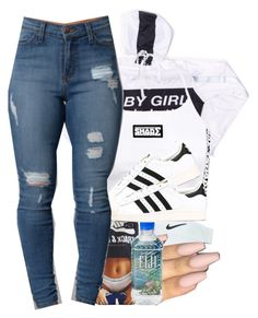 """Trillin BBy"" by prettygurl21 ❤ liked on Polyvore featuring Nike Golf and adidas"