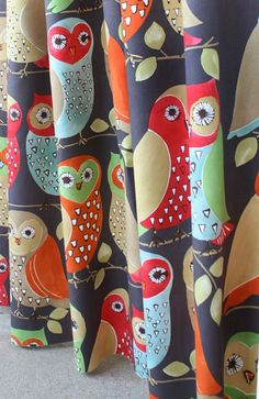 Totally charming, woodsy owl print by P/Kaufmann, now in stock and available at www.tonicliving.com (or click on image). #tonicliving #toniclivingfabric #owlfabric