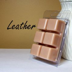 Leather Air Freshener Scented Soy Wax Tarts by StillWaterCandles, $3.95