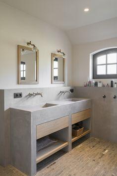 Vintage Bathrooms, Rustic Bathrooms, Modern Bathroom, Small Bathroom, Master Bathroom, Bathroom Sink Tops, Bathroom Toilets, Concrete Bathroom, Toilet Design