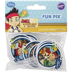 Wilton 21132375 Disney Jake and The Never Land Pirates Fun Pix Cupcake Decor *** Click on the image for additional details.