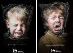 Eric Khachatourian --- This image is very  persuasive because it is showing how harmful smoking and second hand smoke is for children. It provides an image to a feeling. This image definitely tries to serve to both support existing opinions and to change attitudes behaviors.