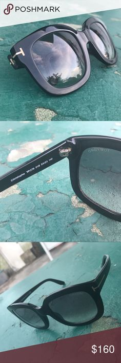 Tom Ford Christophe Sunglasses Thick framed, black sunglasses, with zero major scratches Tom Ford Accessories Sunglasses