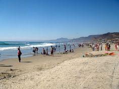 Playa La Misión, in between Rosarito and Ensenada, Baja California, Mexico. Blog: http://bajabybus.com/blog/item/26-la-mision-whale-encounter