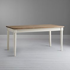 Buy John Lewis Drift Seater Extending Dining Table, Cream from our Dining Tables range at John Lewis & Partners. Extendable Dining Table, Dining Room Table, Dining Area, Dining Bench, Modern Country, Muted Colors, Table Furniture, New Kitchen, Beautiful Gardens