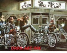 David Mann Original Art Sturgis   David Mann Motorcycle Art Poster Damn Sporty Tattoo Sturgis Easyriders ...