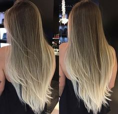 Hair Goals Layers Ombre 69 Ideas For 2019 Blonde Hair Looks, Brunette Hair, Beautiful Long Hair, Gorgeous Hair, Baliage Hair, Balayage Ombré, Pinterest Hair, Light Hair, Smooth Hair