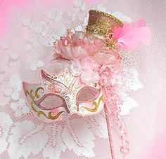 Marie Antoinette Pink Shabby Masquerade Paris by from on Etsy. Saved to Marie Antoinette. Color Splash, Mardi Gras Centerpieces, Costume Venitien, Rose Bonbon, Party Fiesta, Masquerade Party, Masquerade Masks, Mascarade Mask, Venetian Masks