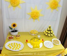 Little Miss Sunshine Party {Part 1 Decorations and Favors}      OneCreativeHousewife.com