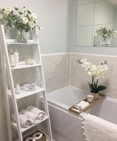 Terrific No Cost 859 likes, 19 comments – The Little White House ( - Wohnaccessoires Ideen Small Bathroom Organization, Diy Bathroom Decor, Bathroom Interior Design, Bathroom Ideas, Cozy Bathroom, Interior Livingroom, Simple Bathroom, Organization Ideas, Bad Inspiration