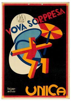 Fortunato Depero (1892-1960, Italy), 1928, Vova Sorpresa, Unica.