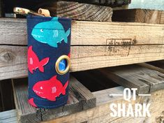 Dog Poop bags dispenser /waste bag holder Ocean QT Shark by QTPET on Etsy Fusible Interfacing, Cat Hair, Butterfly Flowers, New Puppy, Dog Harness, Shark, Your Dog, Ocean, Handmade Gifts