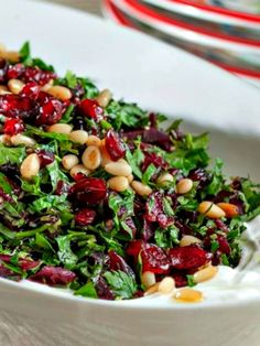 Chopped Parsley Beet Salad over Labneh