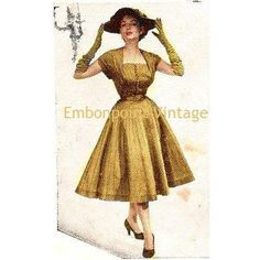 Plus Size or any size Vintage 1949 Dress  PDF by EmbonpointVintage