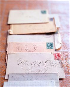 Letters 'n stamps