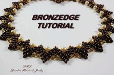 Step by step tutorial for superduo necklace Bronzedge di DESIBEADS