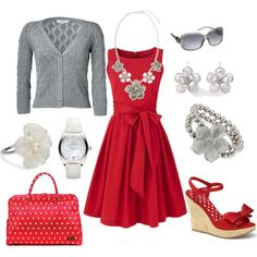 If I ever had anywhere semi-dressy to go this would be a great outfit!  Especially love the wedge shoes.