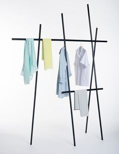 Clothes rack by Martha Schwindling could be