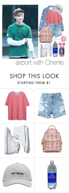 """NCT airport : Chenle"" by vieen ❤ liked on Polyvore featuring rag & bone/JEAN, Keds, MCM, Hot Topic and Nintendo"