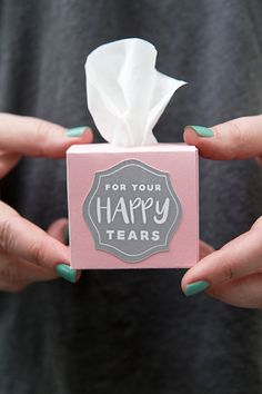mini tissue boxes for wedding ceremony ideas