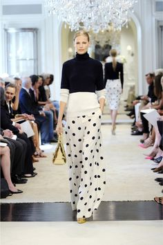 #Modest doesn't mean frumpy. #DressingWithDignity www.ColleenHammond.com  Ralph Lauren Resort 2015 Collection