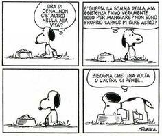 Snoopy e il cibo