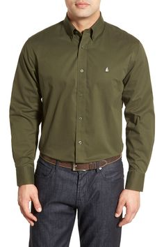 Smartcare(TM) Traditional Fit Twill Boat Shirt (Tall Size Available)