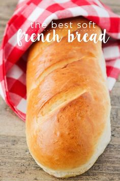 The Best Soft French Bread This soft and fluffy french bread is better than store-bought and so easy to make! - This soft and fluffy french bread is better than store-bought and so easy to make! Artisan Bread Recipes, Bread Machine Recipes, Easy Bread Recipes, Baking Recipes, French Bread Recipes, French Bread Bread Machine, French Bread Loaf, Best French Bread Recipe Ever, Bread Flour Recipes